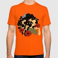 Druidess Mens Fitted Tee Orange SMALL