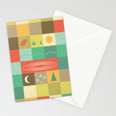 Patchwork Mapwork Stationery Cards