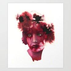 Blood Lady #2 Art Print