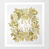 That's Life – Gold On … Art Print