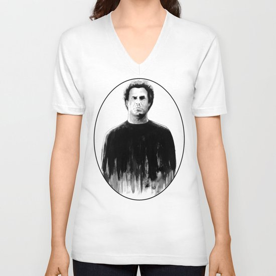 DARK COMEDIANS: Will Ferrell V-neck T-shirt