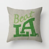Beat LA Throw Pillow
