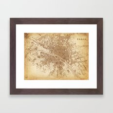 map of Paris 1843 Framed Art Print