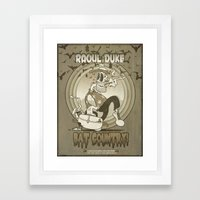 Fear 'N Loathing In This Foul Year Of Our Lord Nineteen Hundred and Twenty-Five (true grit version) Framed Art Print