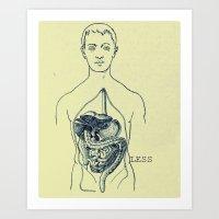 GUTLESS Art Print