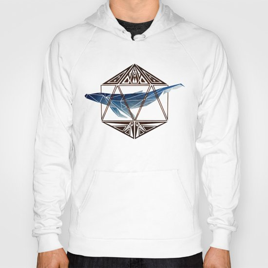 whale in the icosahedron Hoody