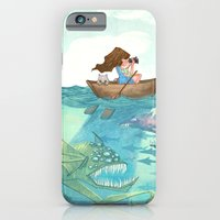 iPhone & iPod Case featuring The Lake of Lurking Monsters by Anne Lambelet
