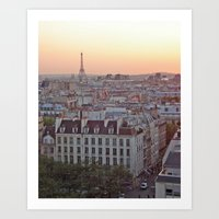 Paris en Rose Art Print
