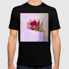 Ethereal tulip Mens Fitted Tee Black SMALL