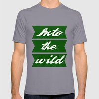 Into the wild Mens Fitted Tee Slate SMALL
