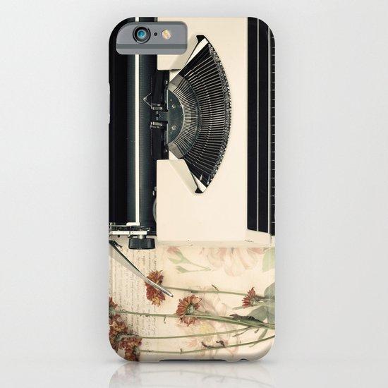 Romantic Typewriter (Retro and Vintage Still Life Photography) iPhone & iPod Case