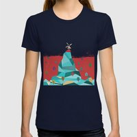 Windmill Womens Fitted Tee Navy SMALL