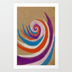 snoozy spiral Art Print