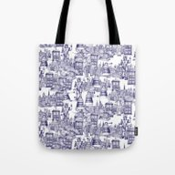 Tote Bag featuring Doctor Who Toile De Jouy… by Sharon Turner