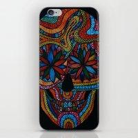 Skull happy iPhone & iPod Skin