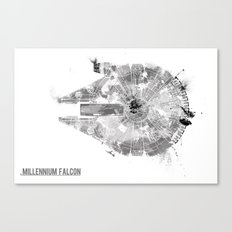 Star Wars Vehicle Millen… Canvas Print