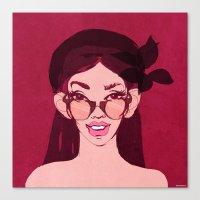 selfie girl_11 Canvas Print