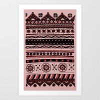Yzor Pattern 005 02 Art Print