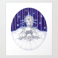 Christmas star Art Print