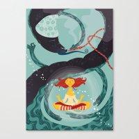 Alice In Wonder-zen (ill… Canvas Print