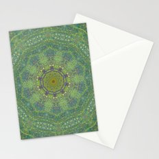 liquid green mandala? Stationery Cards