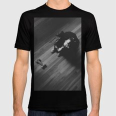 A Dog and His Bone SMALL Black Mens Fitted Tee