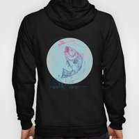 Bass Jumping In Blue Cir… Hoody