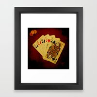 Ful de Damas (Dirty Poker) Framed Art Print