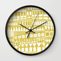 Golden Doodle abstract Wall Clock