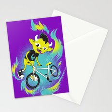Monster Pixie Riding a Fixie Stationery Cards