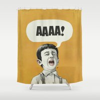 AAAA! (Golden) Shower Curtain