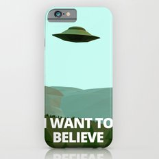 I want to believe low-poly ufo iPhone 6 Slim Case