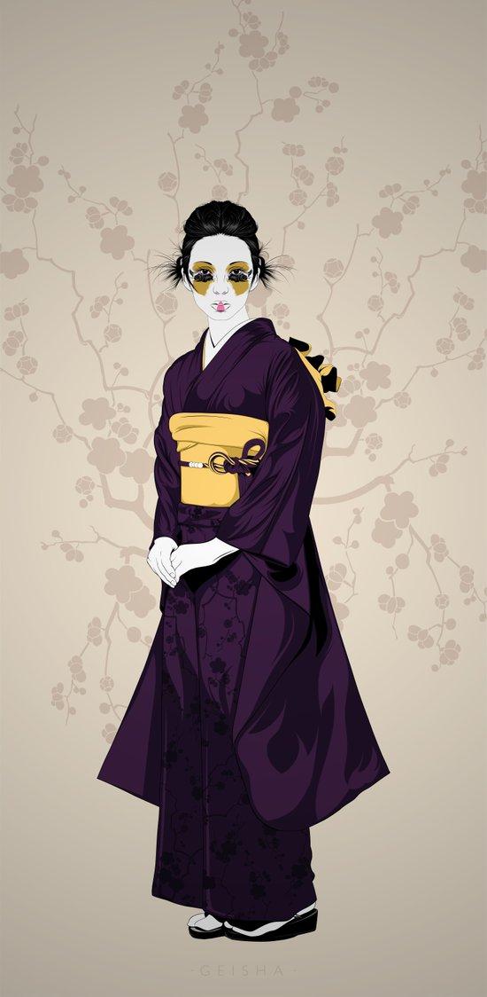 Geisha B Art Print