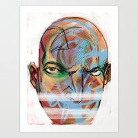 the face Art Print