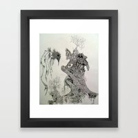 Perception of a starkly raven. Framed Art Print