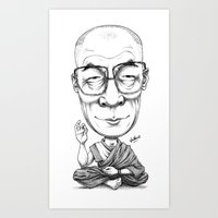 HRH Dalai Lama Art Print