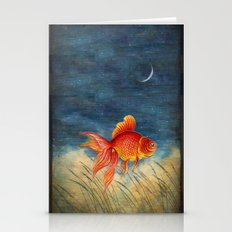 Floating Red Fish Stationery Cards