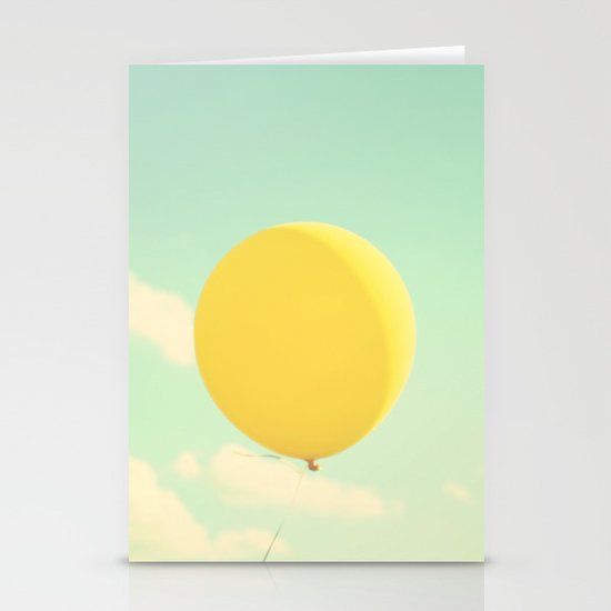 yellow balloon Stationery Card