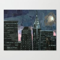Night Time In The City Canvas Print