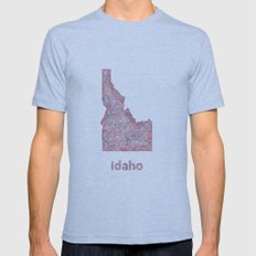 Idaho Mens Fitted Tee Tri-Blue SMALL