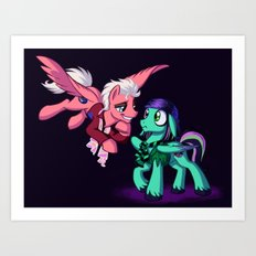 Mad T Ponies 'Mally and Thackery' Art Print