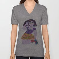 Bow Girl Unisex V-Neck