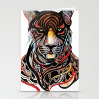 tiger Stationery Cards featuring Tiger by Felicia Atanasiu
