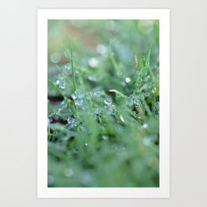 Morning Glitter Art Print