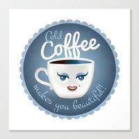 Cold Coffee Makes You Be… Canvas Print