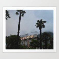Hotel Rosa Art Print