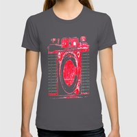 Red Camera Womens Fitted Tee Asphalt SMALL