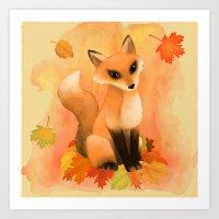 Fall Fox Art Print