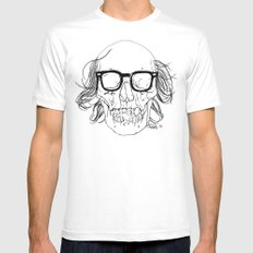 My best friend, Death White SMALL Mens Fitted Tee