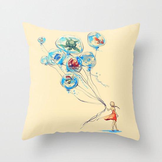 Water Balloons Throw Pillow